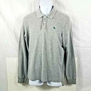 Abercrombie & Fitch Gray Long Sleeve Polo Shirt